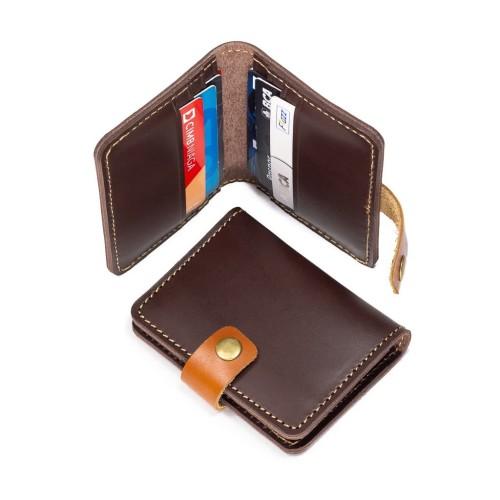 Foto Produk Dompet Kartu Kulit - Muat Banyak - Minimalis Elegan - Cokelat Tan dari made you look