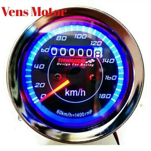 Foto Produk Speedometer LED / Indikator RPM / Kilometer LED Universal dari Ven'S Motors