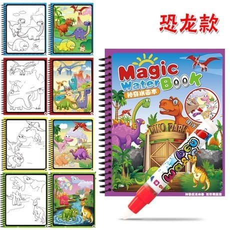 Foto Produk Mainan anak buku menggambar air magic water drawing book painting dari hafami olshop