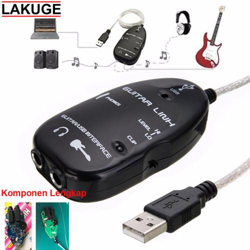 Foto Produk Gitar Link USB AY07 Versi Komponen Lengkap - Hitam dari Lakuge