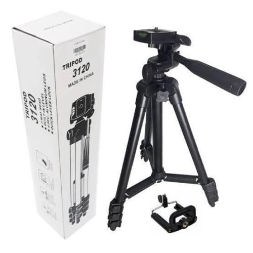 Foto Produk TRIPOD HITAM 3120 BLACK EDITION - Tripod Camera 1 Meter Free Holder dari GRosiRan ACCESORIESS HP