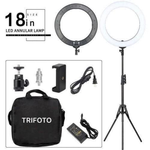 Foto Produk Ringlight LED Trifoto RL-18 Inch Bi-Color Ring Light Ringlite + Stand dari DG PRO
