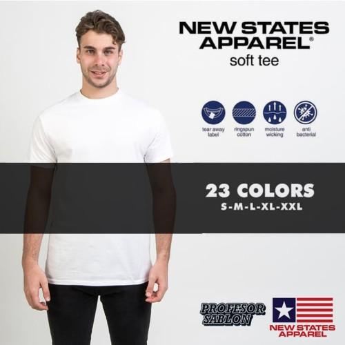 Foto Produk Kaos Polos NSA SOFT New state apparel persis gildan softstyle (WHITE) - White, S dari Profesor Sablon