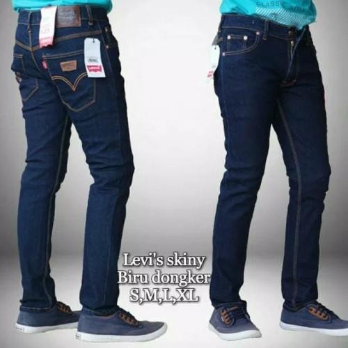 Foto Produk Celana Jeans Levis Slimfit Panjang Pria Biru Dongker size 27 - 32 - Blueblack, 27 dari toko jeans isya
