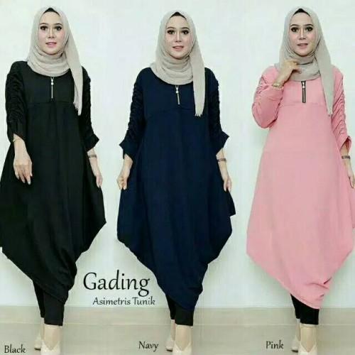 Foto Produk Baju tunik jumbo wanita muslim Long Kemeja LKA Jumbo dari My1stShop