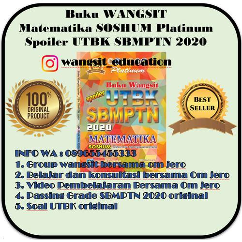 Foto Produk Buku Wangsit SPOILER UTBK SBMPTN 2020 Matematika Soshum Platinum dari Buku Wangsit SBMPTN