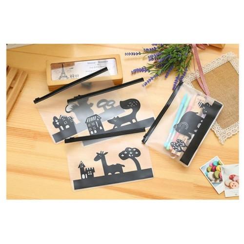 Foto Produk TP0035 Tempat Pensil Cool Animal Transparan - tupai dari EnnWen Online Store