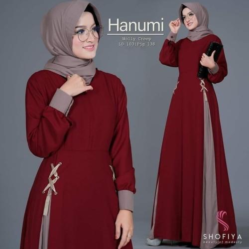 Foto Produk Fashion Muslim Baju Gamis Wanita Terbaru Hanumi Dress Termurah dari hijabafwa