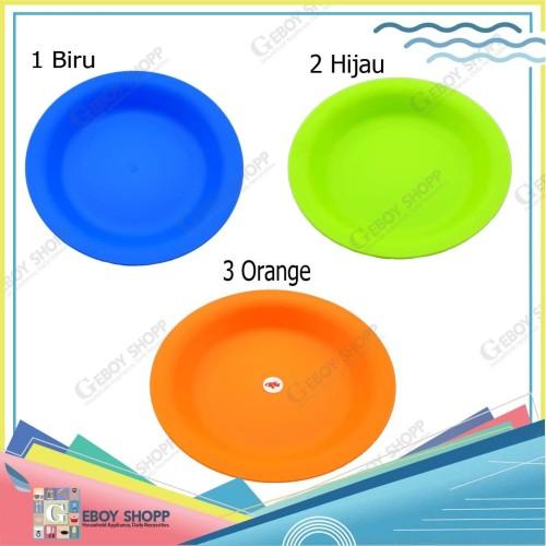 Foto Produk Piring Plastik Bulat Warna Tebal - Biru dari Geboy Shopp