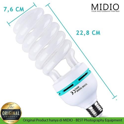Foto Produk Lampu Studio Fotografi 5500 Kelvin (Daylight Lamp) 125 watt dari Midio