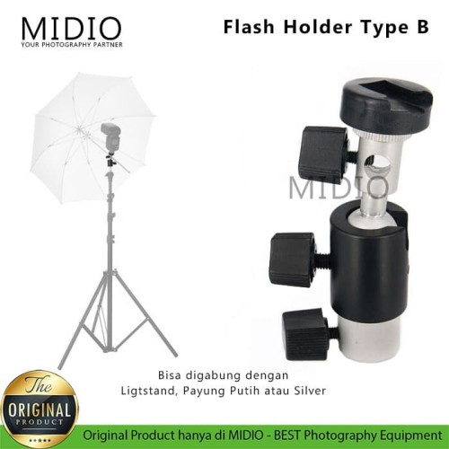 Foto Produk Flash Holder Midio Type D untuk Kamera DSLR Flash dari Midio