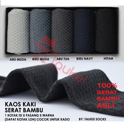 Foto Produk Kaos kaki Bisnis Pria Serat bambu (Isi 5 pasang = 10Pcs) - mixed colour, 37-45 dari TAUKEI INDONESIA
