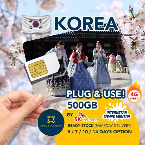 Foto Produk 10 day 300GB 4G+ sim card KOREA , SK Telecom network simcard korea !! dari Ezzy Connect