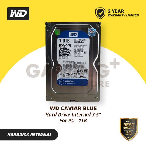 Foto Produk HDD Internal WD Blue 1TB 3.5 SATA 3 7200 RPM / HDD PC / HARD DISK dari Gaming Plus Store