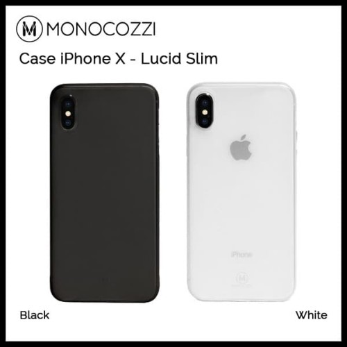 Foto Produk Monocozzi Case iPhone X - Lucid Slim - White dari Originalroom