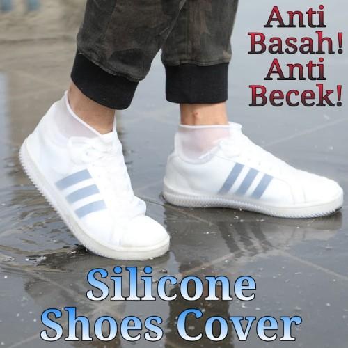Foto Produk Pelindung Sepatu Silikon Elastis Silicone Shoes Cover Anti Becek Basah - Small dari Ahoki Store