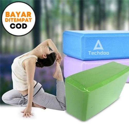 Foto Produk Techdoo Yoga Brick Block Bantal Yoga Import Yoga Foam YYK01 - Biru dari Techdoo