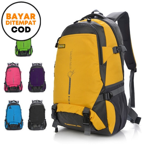 Foto Produk Techdoo 45L Tas Gunung Hiking Climbing Travelling Backpack TRG02 - Hitam dari Techdoo