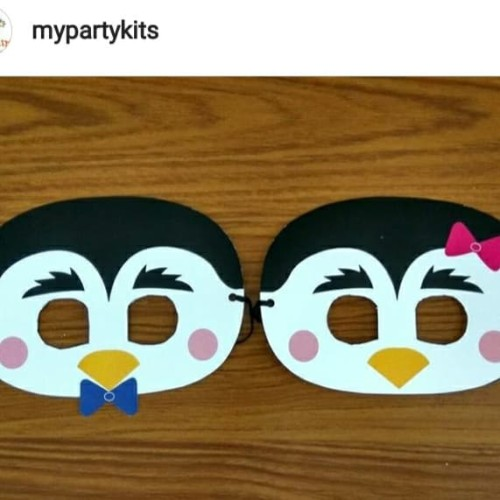 Foto Produk Topeng Pinguin kertas karton per 6 pcs dari MyPartyKits