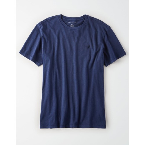Foto Produk Kaos American Eagle Crewneck Slub Tee Navy Blue Original Casual Pria dari OTOMO Store