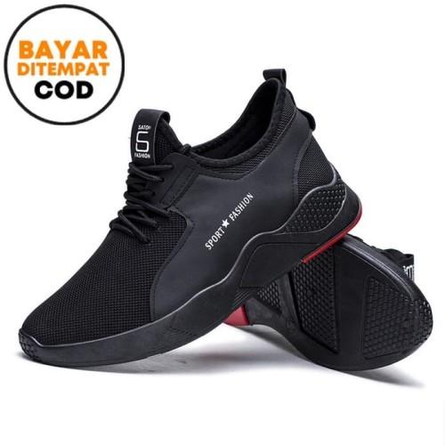 Foto Produk Techdoo Sepatu Sneakers Pria Santai Fashion Running Shoes MR203 - Hitam, 40 dari Techdoo