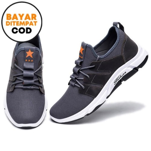Foto Produk Techdoo Sepatu Sneakers Pria Sepatu Pria Casual MR202 - Abu-abu, 39 dari Techdoo