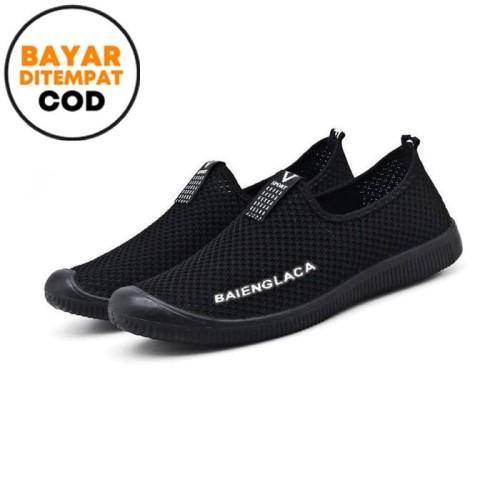 Foto Produk Techdoo Sepatu Sneakers Pria Sepatu Slip-on Sepatu Import MR209 - Hitam, 39 dari Techdoo