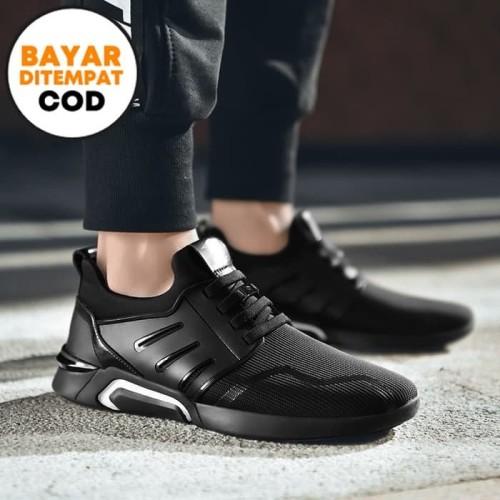 Foto Produk Techdoo Sepatu Olahraga Runing Shoes Sepatu Pria Untuk Sekolah F15 - Hitam putih, 41 dari Techdoo