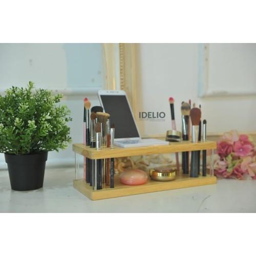 Foto Produk Rak Kosmetik Kayu / Wood Makeup Organizer dari IDELIOID