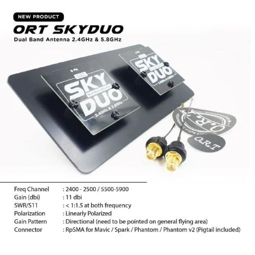 Foto Produk ORT SkyDuo DualBand Antenna 2.4/5.8GHz DJI Mavic Spark Inspire Phantom dari DooFPV