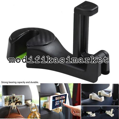 Foto Produk CAR HEADREST HP HOLDER HANGER CAR HOOK GANTUNGAN MOBIL SERBAGUNA dari Modifikasi Market