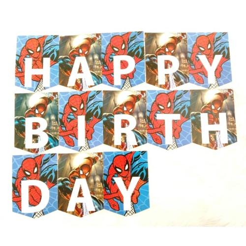 Foto Produk banner happy birthday spidermen dari rumasa