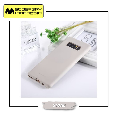 Foto Produk GOOSPERY Samsung Galaxy A8 Plus 2018 Soft Feeling Jelly Case - Stone dari Goospery Indonesia