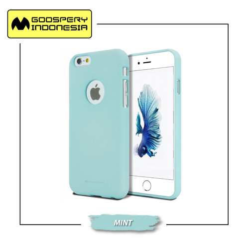 Foto Produk GOOSPERY iPhone 6 / 6S Soft Feeling Jelly Case With Hole - Mint dari Goospery Indonesia