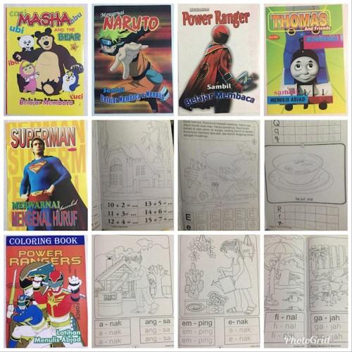 Foto Produk Terlaris Buku Anak - Buku Mewarnai Uk. Besar -- Kertas Hvs dari irwan gunawann