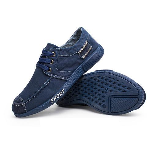 Foto Produk Techdoo Sepatu Pria Sepatu Tali Sepatu Sport Sepatu Kets Pria J11 - Biru, 43 dari Techdoo
