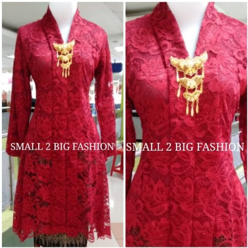 Foto Produk kebaya panjang brukat muslim / kebaya tunik / kebaya brokat muslim dari Small 2 Big Fashion