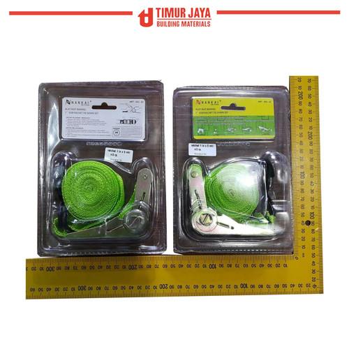Foto Produk Tali pengikat barang di Motor Ratchet Tie Down Set 1 inch x 5 m nankai dari TOKO BESI TIMUR JAYA