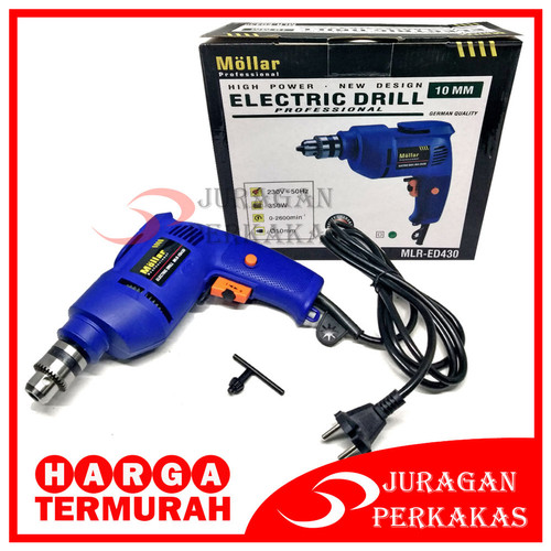 Foto Produk MOLLAR MLR-ED430 MESIN BOR LISTRIK REVERSIBLE 10 MM ELECTRIC DRILL dari Juragan Perkakas