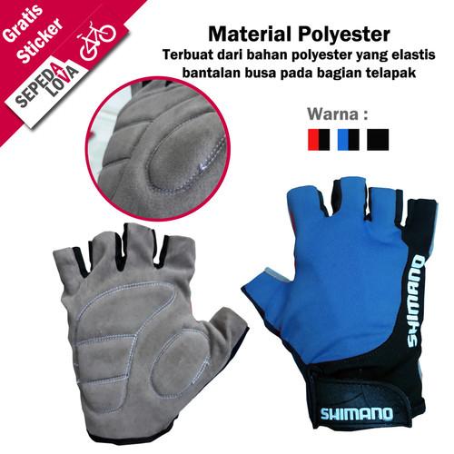 Foto Produk Sarung Tangan Gloves Sepeda Half Finger - Biru dari SepedaLova