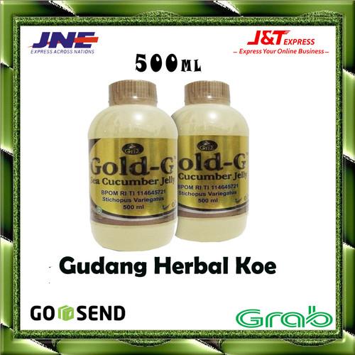 Foto Produk Gold G Bio Sea Cucumber 500 ml Jelly Gamat dari Gudang Herbal Koe