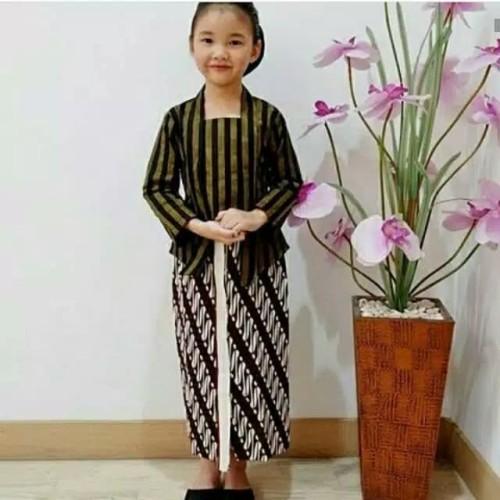 Foto Produk KEBAYA LURIK ANAK SET // BAJU ADAT JAWA // - Hitam, 0 dari murah collection winsh