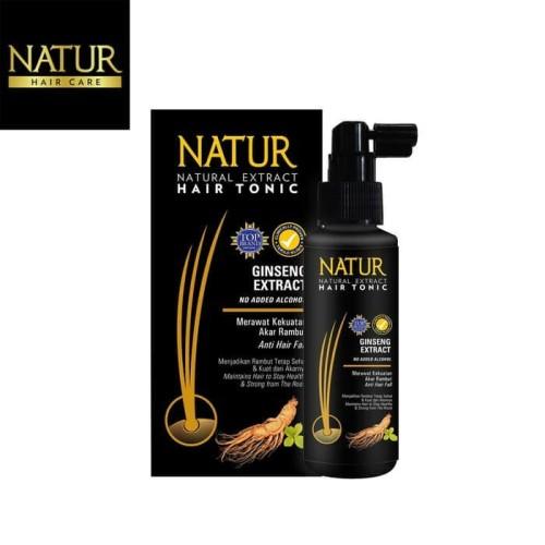 Foto Produk NATUR HAIR TONIC GINSENG EXTRACT ORIGINAL BPOM 90ML - TONIC NATUR dari Jane Kosmetik