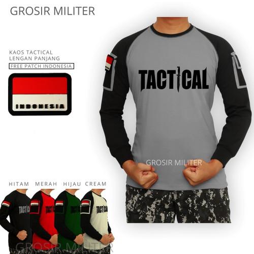Foto Produk Kaos Tactical Lengan Panjang Gratis Patch dari Grosir Militer
