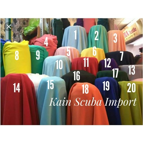 Foto Produk Kain Bahan Scuba Import_Bahan Scuba/Neoprene dari Nabilafauziah.