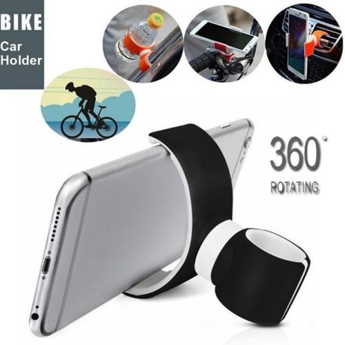 Foto Produk Klip Lipat Holder HP Universal Model Jepit AC Mobil Stang Sepeda untuk dari Random Shop A