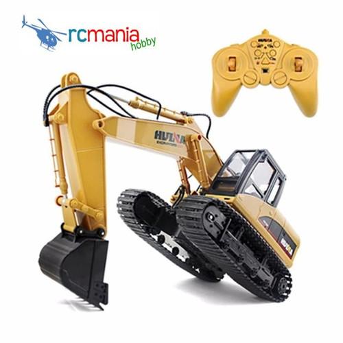 Foto Produk Huina 1550 15 channel Excavator with metal shovel RC Alat Berat dari RCmania Hobby