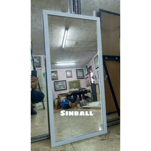 Foto Produk Cermin Kaca body mirror minimalis gantung dinding - Putih dari sinball_shop