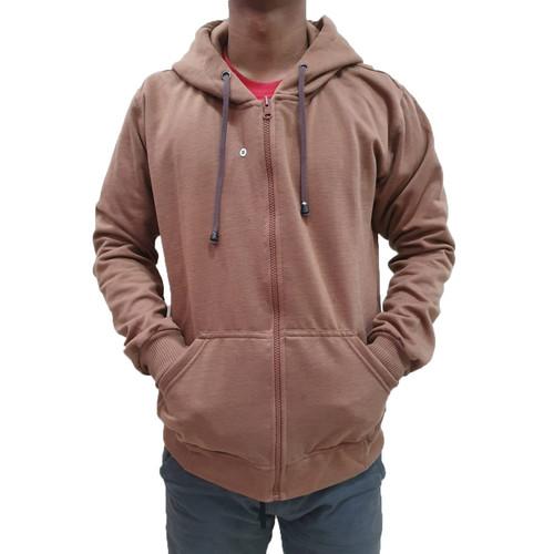 Foto Produk Best seller !!! Jaket Sweater Polos Hoodie Zipper/Resleting Mocca - ZIPPER MOCCA, M dari stuvco.sportswear