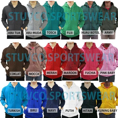 Foto Produk Best seller !!! Jaket Sweater Polos Hoodie Zipper/Resleting - ZIPPER HITAM, M dari stuvco.sportswear